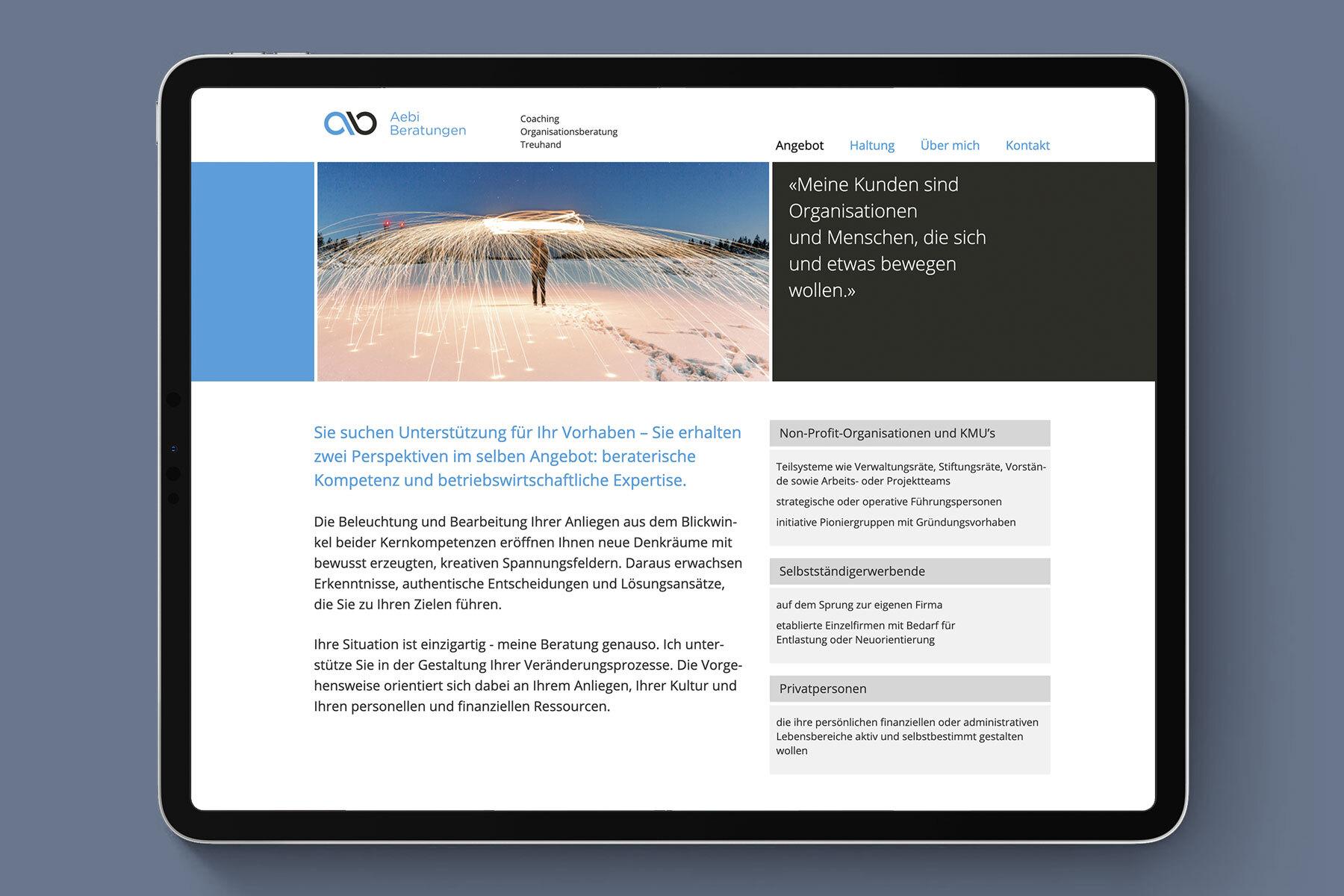 Schweizer Grafik Aebi Beratungen