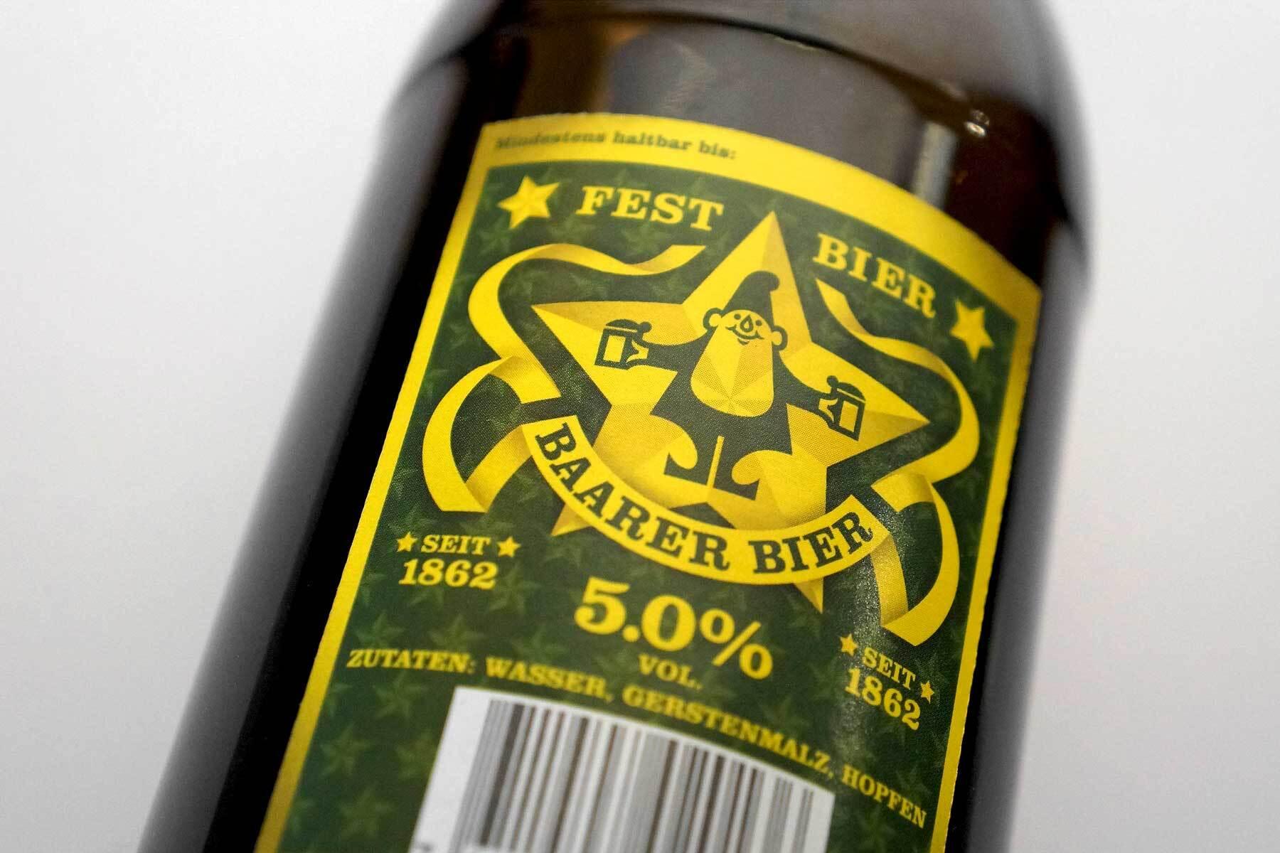 Schweizer Grafik Baarer Bier
