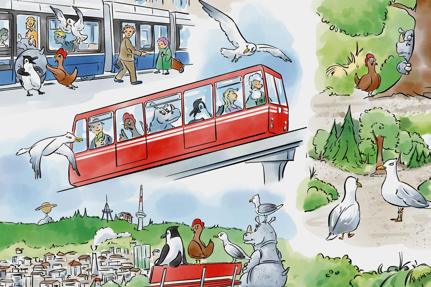Schweizer Grafik Zürcher Verkehrsverbund